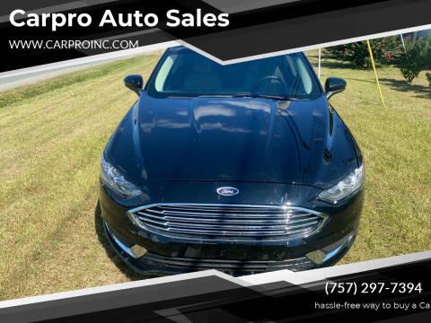 2017 Ford Fusion for sale at Carpro Auto Sales in Chesapeake VA