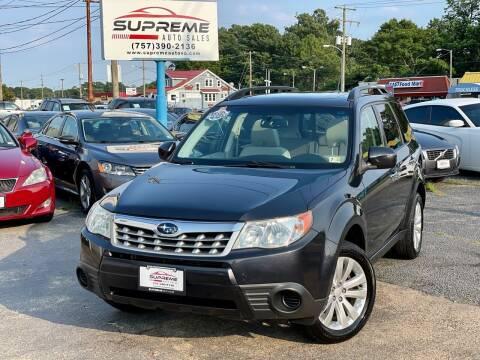 2013 Subaru Forester for sale at Supreme Auto Sales in Chesapeake VA