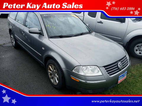 2004 Volkswagen Passat for sale at Peter Kay Auto Sales in Alden NY