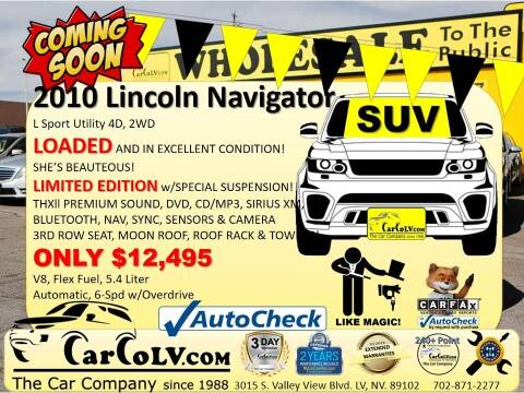 2010 Lincoln Navigator L for sale at The Car Company in Las Vegas NV