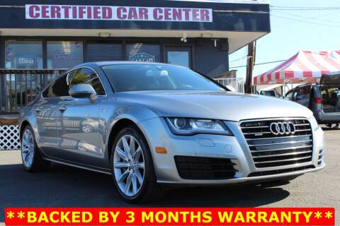2012 Audi A7 for sale at CERTIFIED CAR CENTER in Fairfax VA