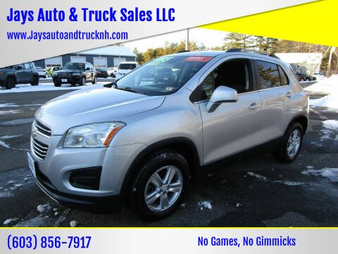 2016 Chevrolet Trax for sale at Jays Auto & Truck Sales LLC in Loudon NH