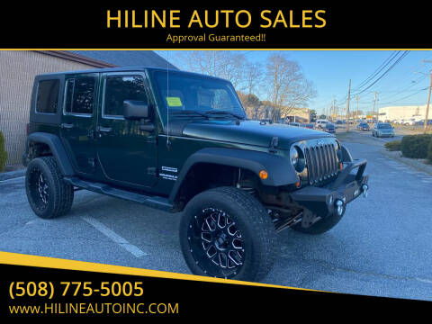 2010 Jeep Wrangler Unlimited for sale at HILINE AUTO SALES in Hyannis MA