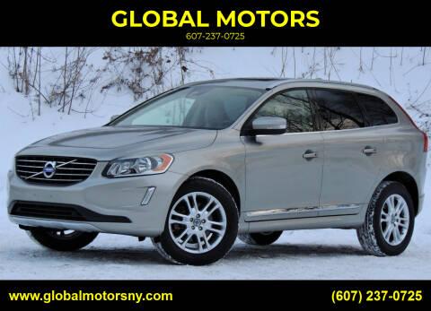 2015 Volvo XC60 for sale at GLOBAL MOTORS in Binghamton NY