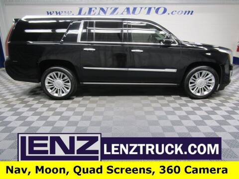 2017 Cadillac Escalade ESV for sale at LENZ TRUCK CENTER in Fond Du Lac WI
