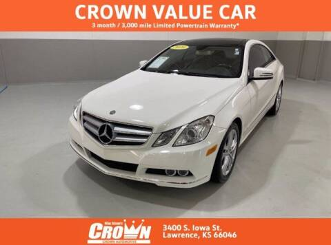 2010 Mercedes-Benz E-Class for sale at Crown Automotive of Lawrence Kansas in Lawrence KS