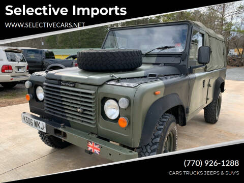 1993 Land Rover Defender for sale at Selective Imports in Woodstock GA