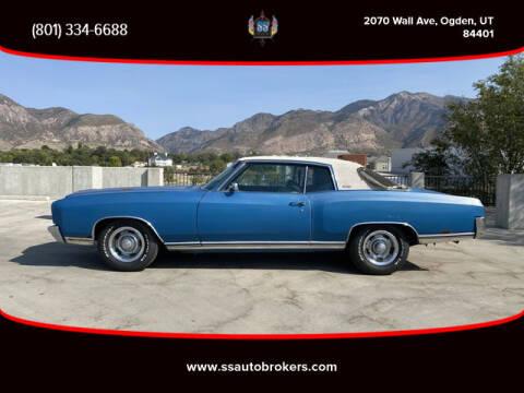 1971 Chevrolet Monte Carlo for sale at S S Auto Brokers in Ogden UT