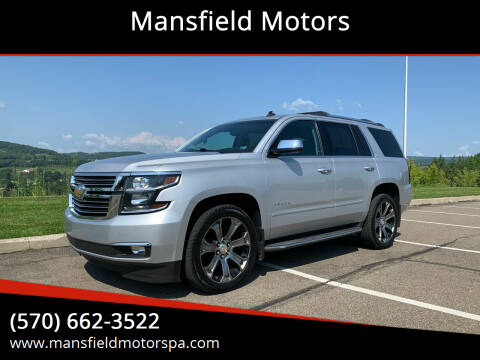 2015 Chevrolet Tahoe for sale at Mansfield Motors in Mansfield PA