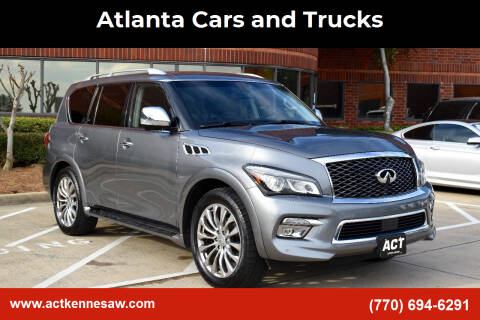 2016 Infiniti QX80 for sale at Atlanta Cars and Trucks in Kennesaw GA