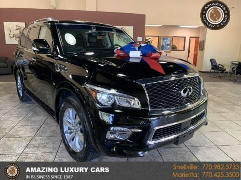 2017 Infiniti QX80 for sale at Amazing Luxury Cars in Snellville GA