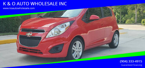 2015 Chevrolet Spark for sale at K & O AUTO WHOLESALE INC in Jacksonville FL