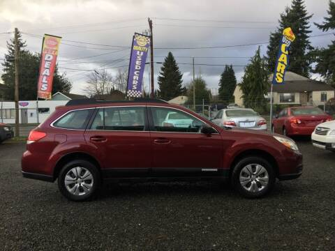 2011 Subaru Outback for sale at A & V AUTO SALES LLC in Marysville WA