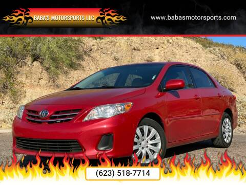 2013 Toyota Corolla for sale at Baba's Motorsports, LLC in Phoenix AZ