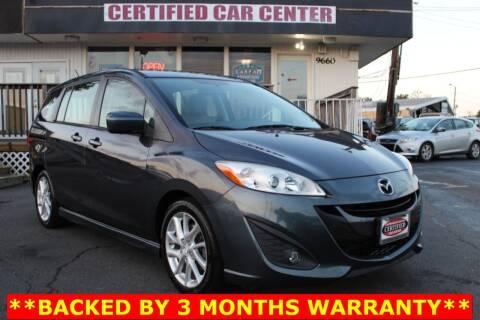 2012 Mazda MAZDA5 for sale at CERTIFIED CAR CENTER in Fairfax VA