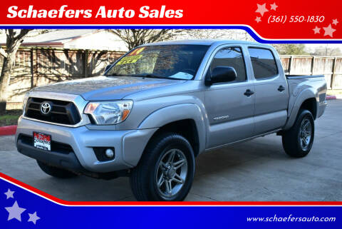 2014 Toyota Tacoma for sale at Schaefers Auto Sales in Victoria TX
