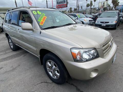 2006 Toyota Highlander for sale at North County Auto in Oceanside CA