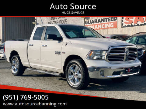 2016 RAM Ram Pickup 1500 for sale at Auto Source in Banning CA