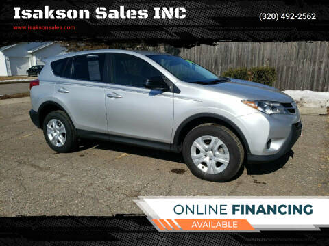 2015 Toyota RAV4 for sale at Isakson Sales INC in Waite Park MN