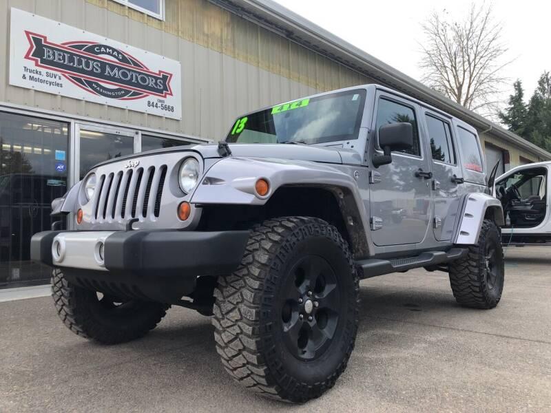 2013 Jeep Wrangler Unlimited for sale at Bellus Motors LLC in Camas WA
