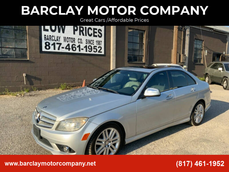 2008 Mercedes-Benz C-Class for sale at BARCLAY MOTOR COMPANY in Arlington TX