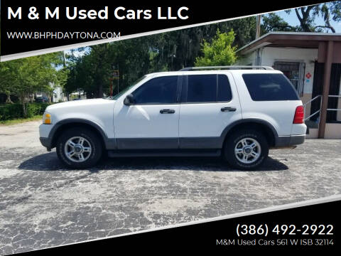 2003 Ford Explorer for sale at M & M Used Cars LLC in Daytona Beach FL