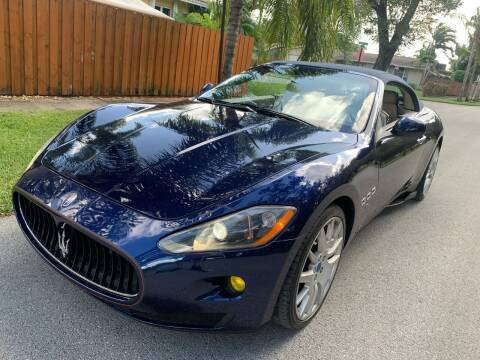 2012 Maserati GranTurismo for sale at FINANCIAL CLAIMS & SERVICING INC in Hollywood FL
