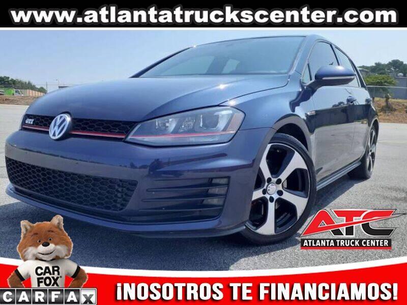 2015 Volkswagen Golf GTI for sale at ATLANTA TRUCK CENTER LLC in Brookhaven GA