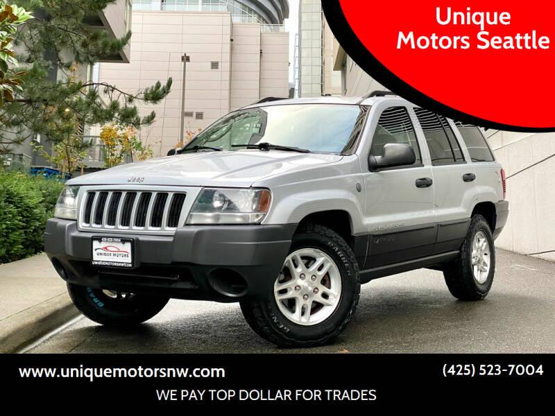 2004 Jeep Grand Cherokee for sale at Unique Motors Seattle in Bellevue WA