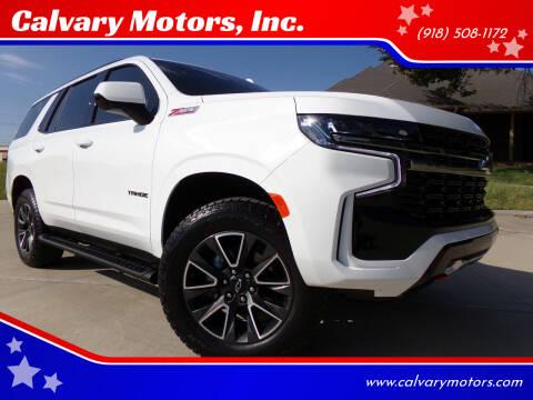 2021 Chevrolet Tahoe for sale at Calvary Motors, Inc. in Bixby OK