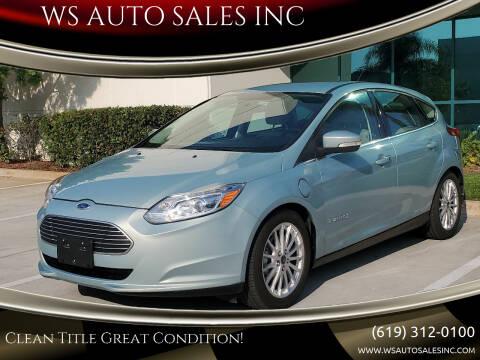 2013 Ford Focus for sale at WS AUTO SALES INC in El Cajon CA