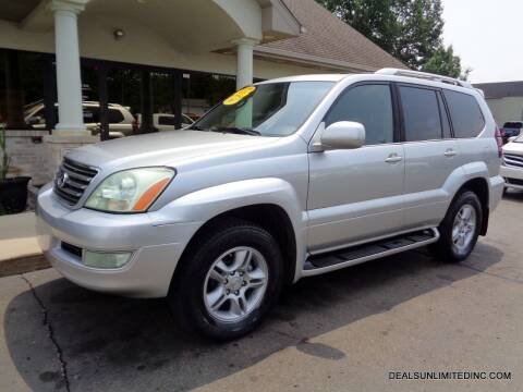 2007 Lexus GX 470 for sale at DEALS UNLIMITED INC in Portage MI