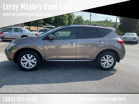 2012 Nissan Murano for sale at Leroy Maybry Used Cars in Landrum SC