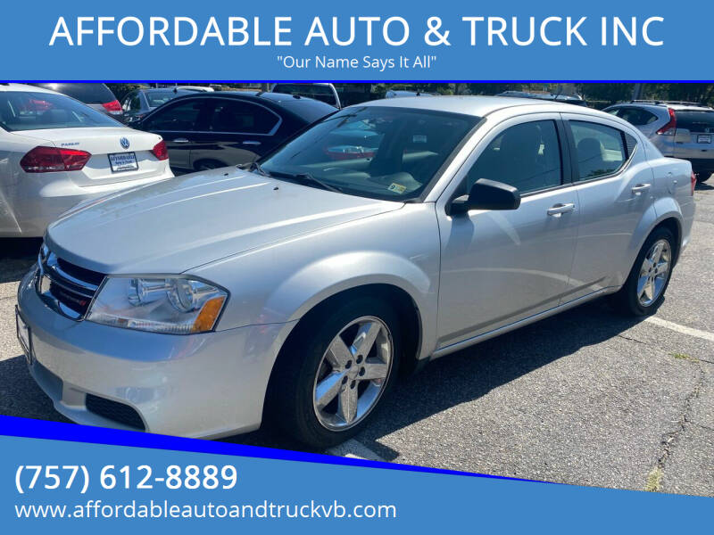 2012 Dodge Avenger for sale at AFFORDABLE AUTO & TRUCK INC in Virginia Beach VA