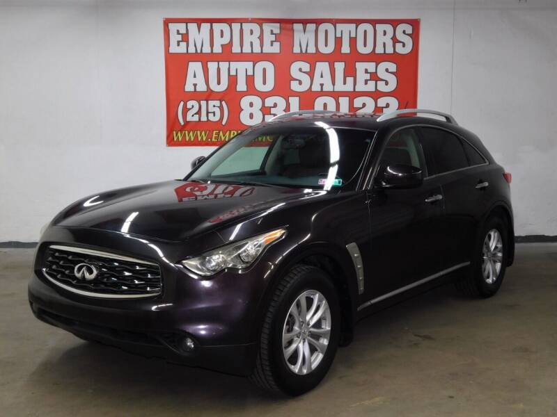 2010 Infiniti FX35 for sale at EMPIRE MOTORS AUTO SALES in Philadelphia PA