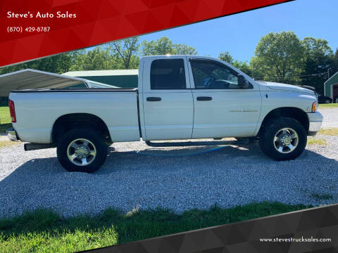 2004 Dodge Ram Pickup 2500 for sale at Steve's Auto Sales in Harrison AR
