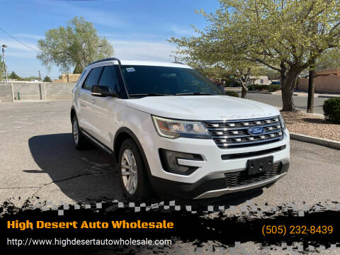 2017 Ford Explorer for sale at High Desert Auto Wholesale in Albuquerque NM