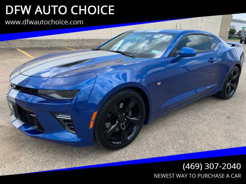 2018 Chevrolet Camaro for sale at DFW AUTO CHOICE in Dallas TX