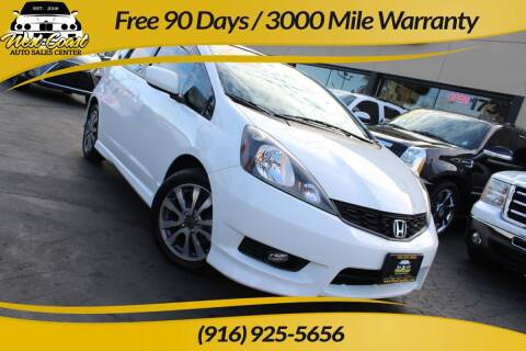 2013 Honda Fit for sale at West Coast Auto Sales Center in Sacramento CA