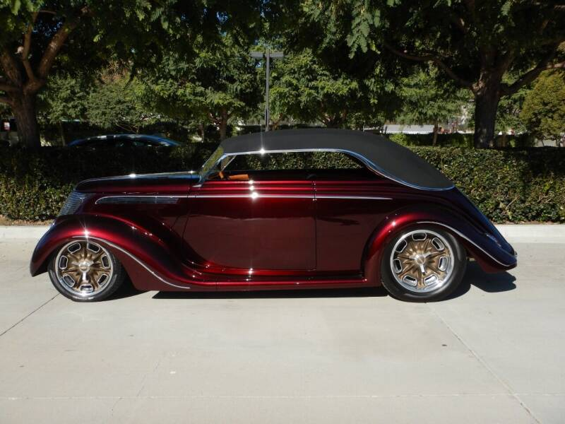 1937 Ford Custom German Grue @ Co for sale at California Cadillac & Collectibles in Los Angeles CA