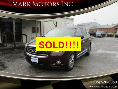 2014 Infiniti QX60 for sale at Mark Motors Inc in Gray KY