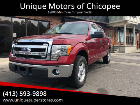 2013 Ford F-150 for sale at Unique Motors of Chicopee in Chicopee MA