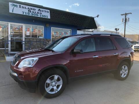 2008 GMC Acadia for sale at Island Auto Sales in Colorado Springs CO