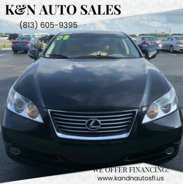 2007 Lexus ES 350 for sale at K&N Auto Sales in Tampa FL