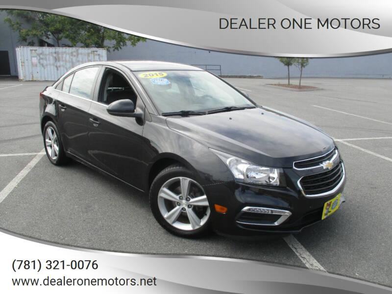 2015 Chevrolet Cruze for sale at DEALER ONE MOTORS in Malden MA