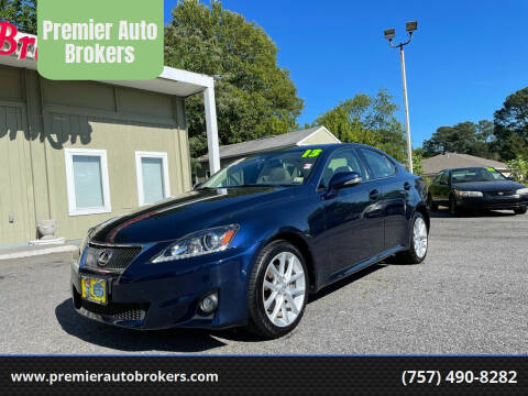 2013 Lexus IS 250 for sale at Premier Auto Brokers in Virginia Beach VA