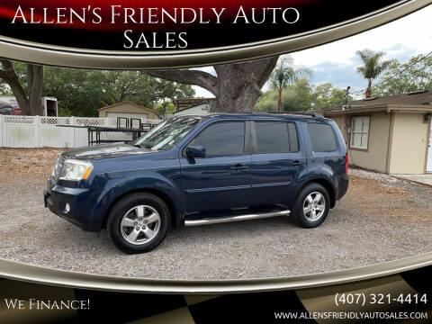 2009 Honda Pilot for sale at Allen's Friendly Auto Sales in Sanford FL