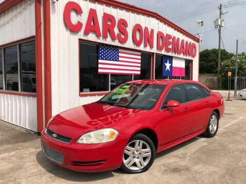 2013 Chevrolet Impala for sale at Cars On Demand 2 in Pasadena TX