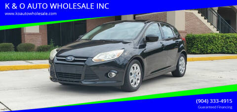 2012 Ford Focus for sale at K & O AUTO WHOLESALE INC in Jacksonville FL