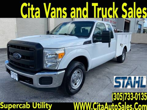 2014 FORD F250 SD SUPERCAB UTILITY TRUCK for sale at Cita Auto Sales in Medley FL